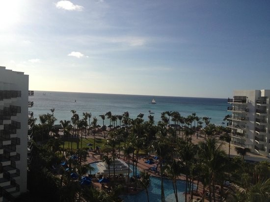 Aruba Marriott Resort & Stellaris Casino:                   Sun setting from our room
