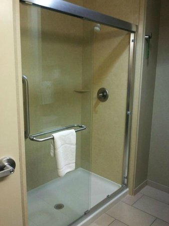 Hampton Inn & Suites Salem:                                     Large shower in King Bedroom
