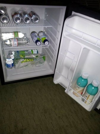 Hampton Inn & Suites Salem:                                     nice size mini fridge (contents not included)..and best of a