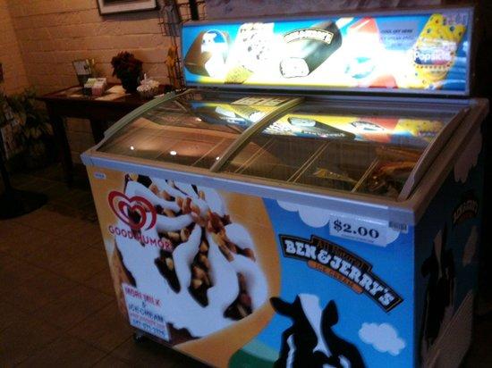 Harbor Shores on Lake Geneva:                   Ice cream cooler in lobby                 