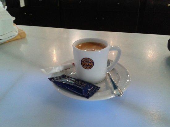 Servigroup La Zenia:                   Cafe Cortado in the Bar