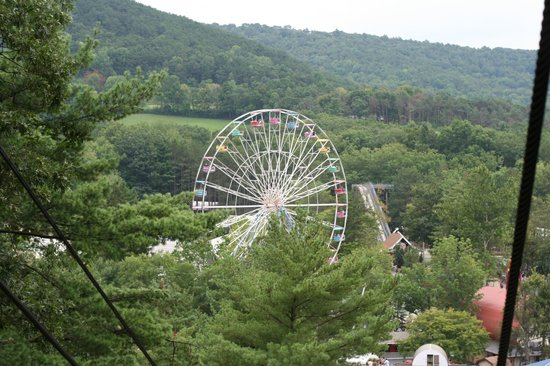 Knoebels Amusement Resort:                   View of park from Sky Ride