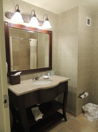 Hampton Inn & Suites Savannah Historic District: vanity in the bathroom