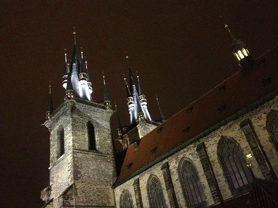 Ventana Hotel Prague:                   View from Room of Cathedral