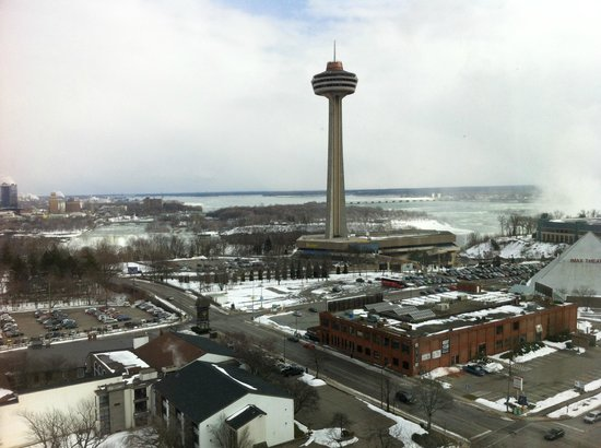 DoubleTree Fallsview Resort & Spa by Hilton - Niagara Falls:                   View from 16th floor Fallsview room