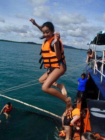 Loola Adventure Resort:                   Boom-net jumping