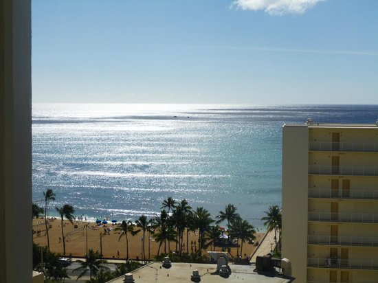 Queen Kapiolani Hotel:                   View from 1509 balcony