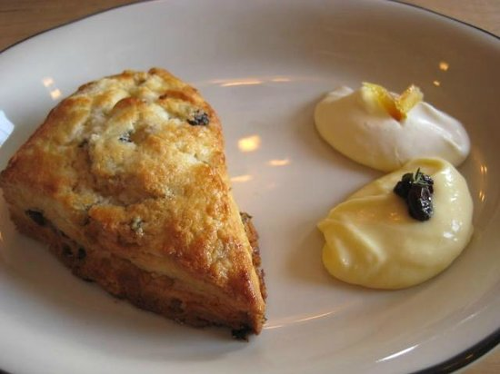 Prairie Whale :                   Scone with curd and creme fraiche