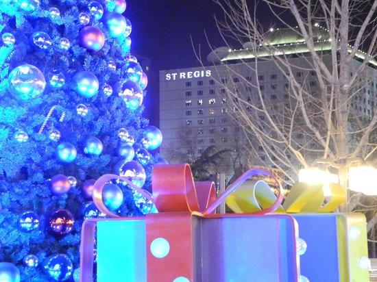 The St. Regis Beijing:                   View of the St. Regis during Christmas season.