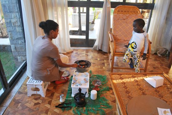 Ethiopia Guest Home :                   Farewell coffee ceremony