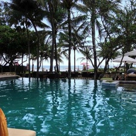 The Royal Beach Seminyak Bali - MGallery Collection:                   View from my lounger at main pool, toward beach.
