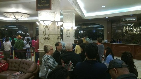 Westgate Town Center Resort & Spa:                   Line to check in
