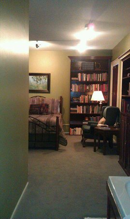 Seasons at the Riter Mansion : View of Library suite from bathroom