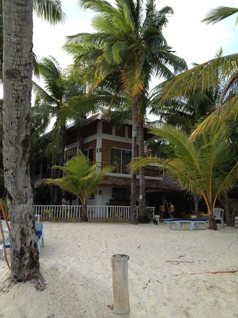 Malapascua Exotic Island Dive & Beach Resort:                   The resort from the beach