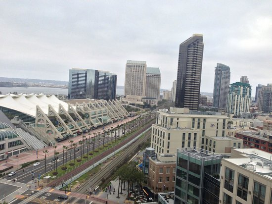 Omni San Diego Hotel:                   View of Convention Center, from th 18th floor