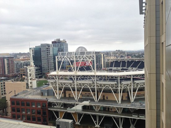Omni San Diego Hotel:                   View of Petco Park, from the 18th floor
