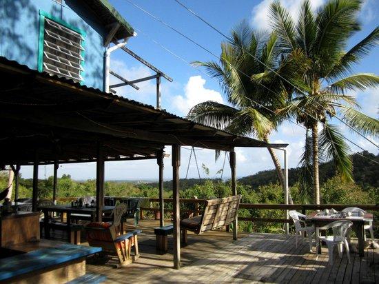 La Finca Vieques: la terrasse du bâtiment principal