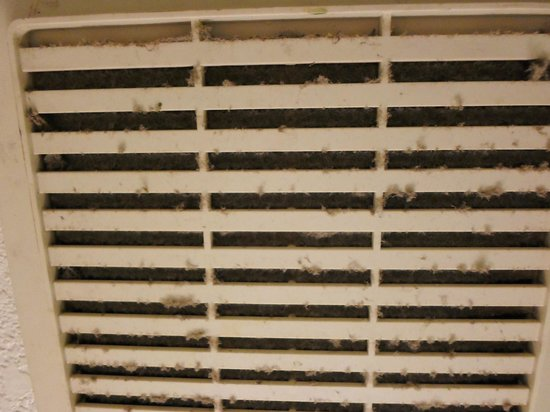 El Cortez Hotel & Casino : Dirty Bathroom Vent Fan