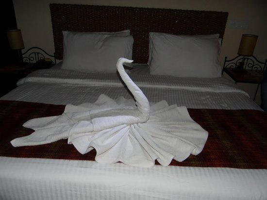 Club Mahindra Mussoorie:                   Swan A beautiful Towel Work