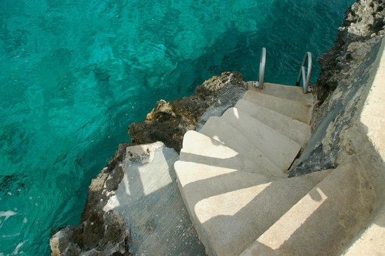 Hotel B Cozumel:                   Steps into the Ocean