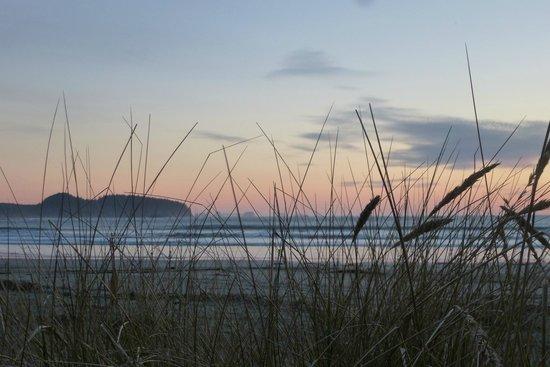 Hobuck Beach Resort :                   from beach near cabin