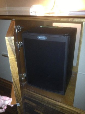 Grand Hyatt New York:                   Tiny fridge in dresser