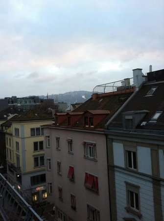 Hotel Schweizerhof Zürich:                   looking slightly to the left out the window - beautiful