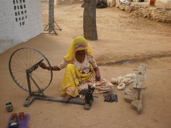 Wife of Khadi weaver Jetharm ji from village Raiser Bikaner