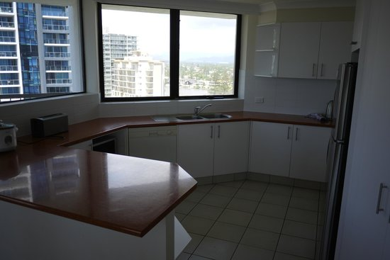 Genesis Apartments:                   fully-equipped kitchen
