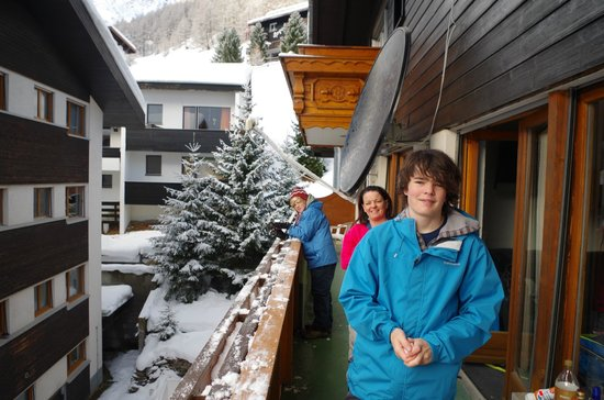 Hotel Marmotte :                   On our balcony