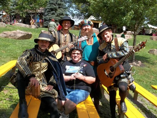 Mount Hope Estate & Winery, home of the Pennsylvania Renaissance Faire:                   A friend with the a group of Fine musical men