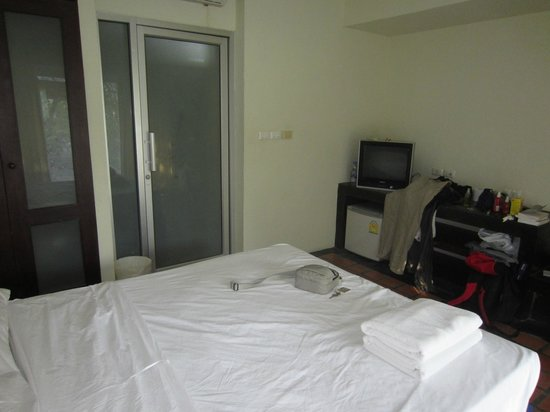 Thiptara Resort :                                     TV and fridge