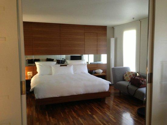 Hilton Sydney:                   Rock hard bed