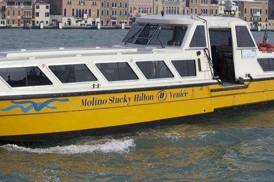 Hilton Molino Stucky Venice Hotel:                   Water bus