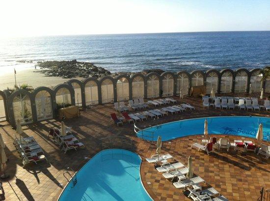 San Agustin Beach Club:                   Ausblick vom Balkon