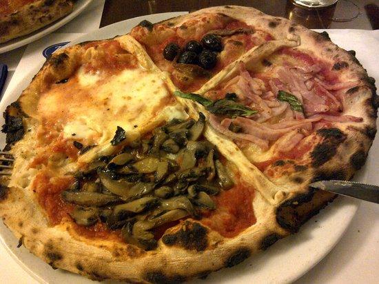 """Re Brasserie :                   A real """"quattro stagioni pizza"""""""