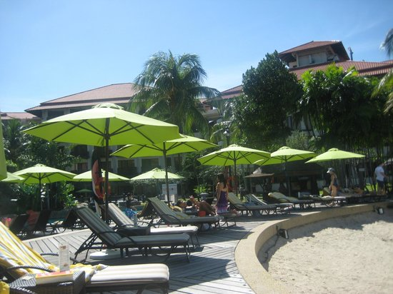 Sutera Harbour Resort (The Pacific Sutera & The Magellan Sutera):                   Sun Loungers around Pool