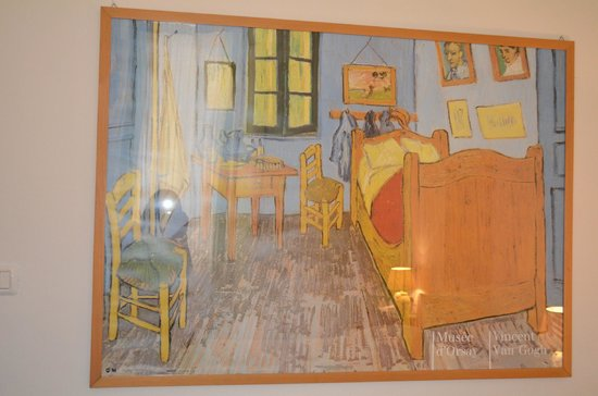 Hotel Dante:                   Van Gogh Painting in our room :)