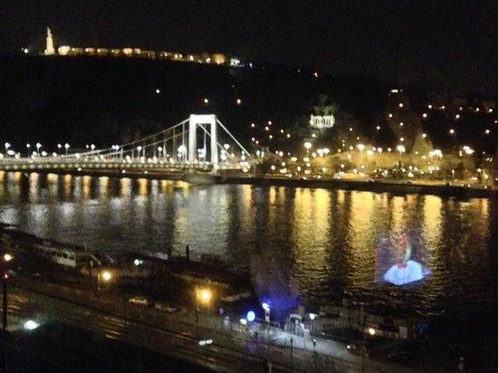 Budapest Marriott Hotel:                   vista notturna dalla camera                 