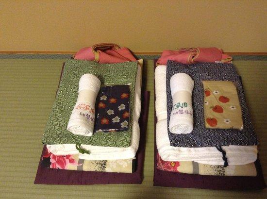 Suihoen:                   部屋着・浴衣サービス