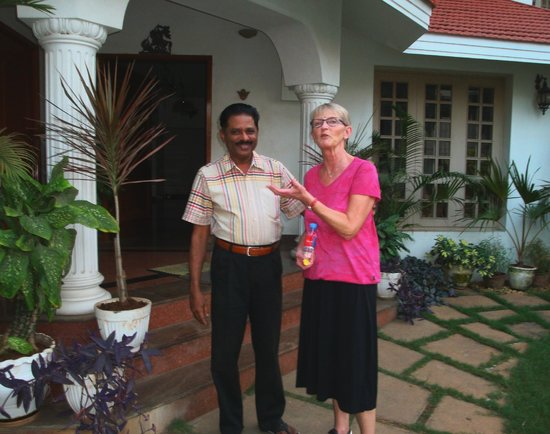 Pleasant Stay Guest House:                   Mr. George with a happy guest