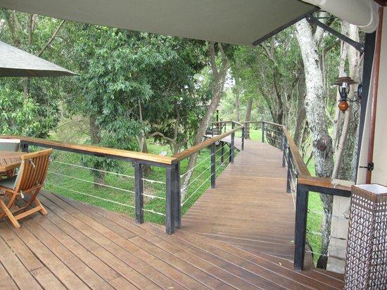 Olare Mara Kempinski Masai Mara:                                     patio