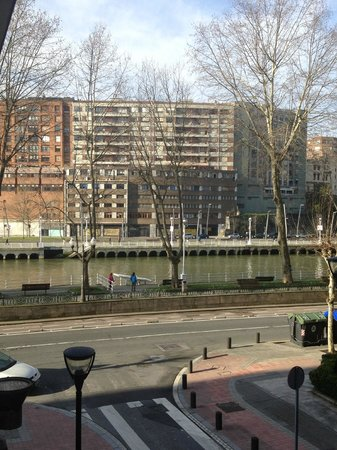 Hesperia Bilbao:                   The side- view from Room 120
