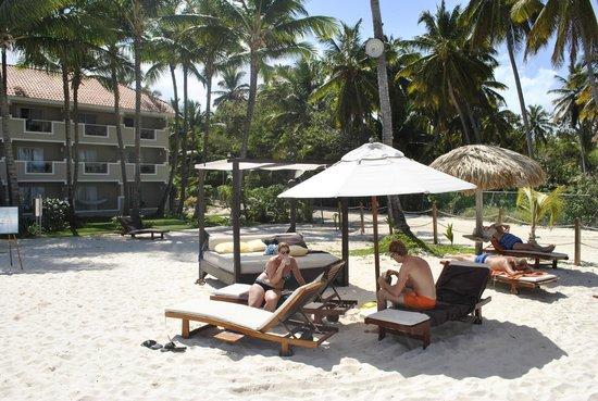Dreams Palm Beach Punta Cana:                                     Luxe strandbedden (incl. bij Buttler-service)