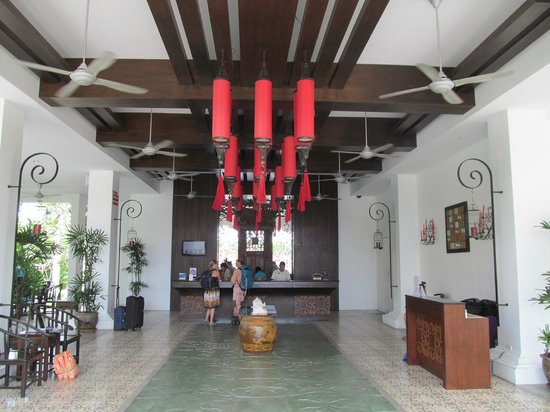 The Old Phuket:                                     Nicely decorated reception with friendly staff!