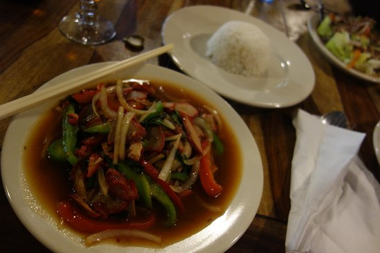 Thep Thai:                   Stir-fry with red pork