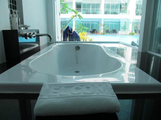 The Old Phuket:                                     Bath with a view!