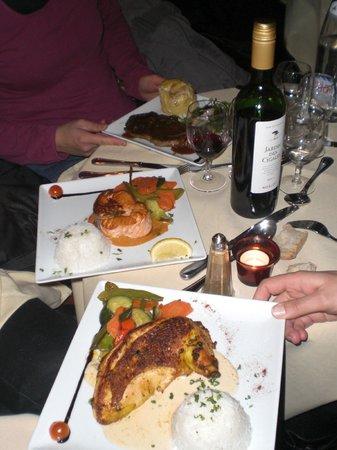 Restaurant le Libertalia:                                     trois plat de la carte