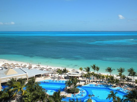 vista desde hab 922 picture of hotel riu caribe cancun. Black Bedroom Furniture Sets. Home Design Ideas
