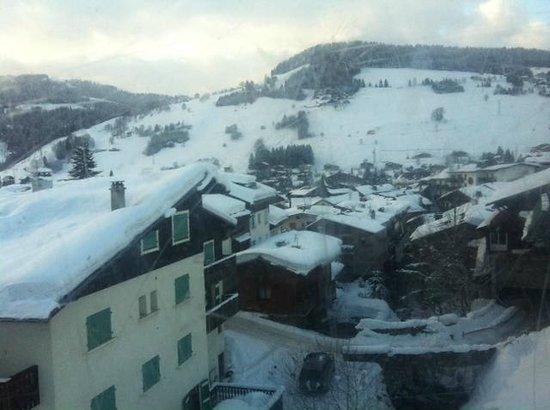 Mont d'Arbois Ski Area:                   The village around
